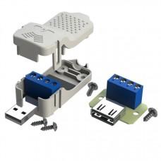 Комплект разъемов: USB-A male, USB-A female