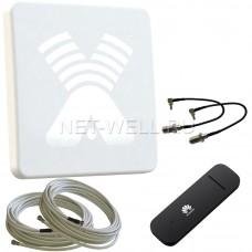Комплект с антенной ZETA F MIMO и USB модемом Huawei e3372
