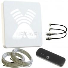 Комплект AGATA-F MIMO 2x2 и Wi-Fi модем Huawei e8372