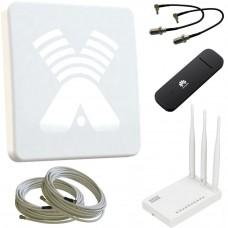 Комплект ZETA F MIMO + USB модем + Wi-Fi роутер