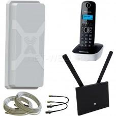Комплект Huawei B310 + радиотелефон + антенна