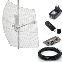 3G/ 4G комплект 2х27 с гермобоксом, USB модемом и роутером.