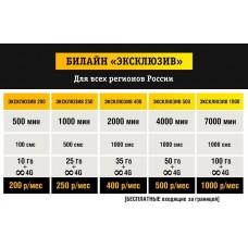 Билайн Ключевой 200/ 250/ 400/ 500/ 1000 руб/мес