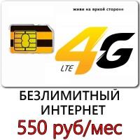 Безлимитный Билайн 550 руб/мес.