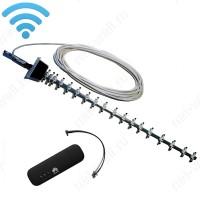 3G/ 4G комплект 21 dB с мобильным USB Wi-Fi роутером