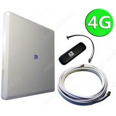 Комплект 4G 18 dB (4G антенна, кабели, 4G модем)