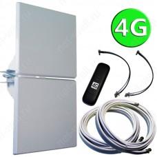 4G комплект 2х14 (4G антенна MIMO, кабели и 4G модем)