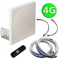 4G комплект 2х16 (4G антенна MIMO, кабели и 4G модем)