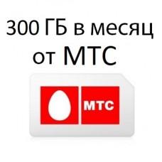 МТС 300 ГБ в мес. 1200 руб/мес.