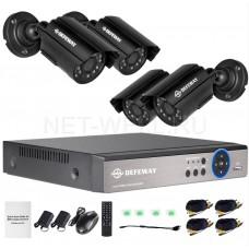 Комплект видеонаблюдения Defeway AHDх4-720p