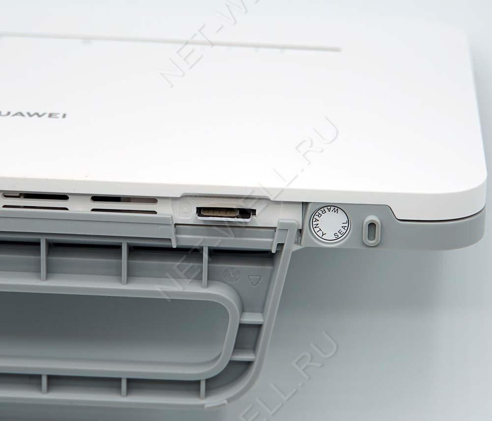 Слот для сим карты на Huawei B535