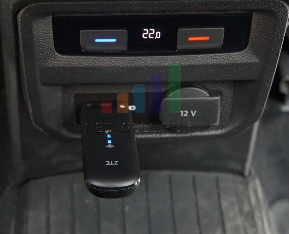 ZTE 79Ru подключен к USB порту в автомобиле