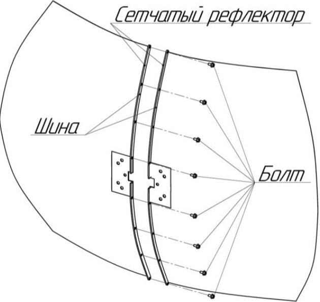 Сборка параболической MIMO антены