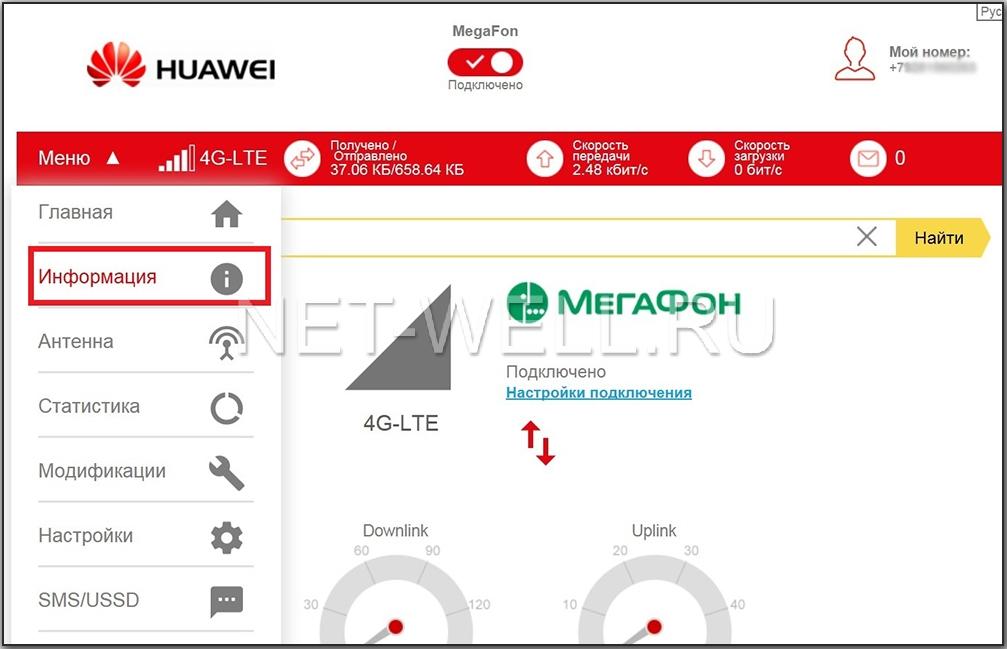 Интерфейс huawei 3372